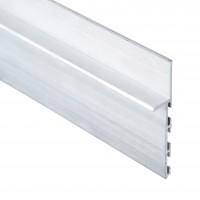 Алюминиевый плинтус Braz скрытого монтажа 80 мм