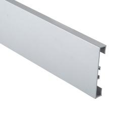 Алюминиевый плинтус Braz накладной прямоугольный 60 мм