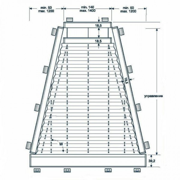 Штори плісе стельові PLК 31