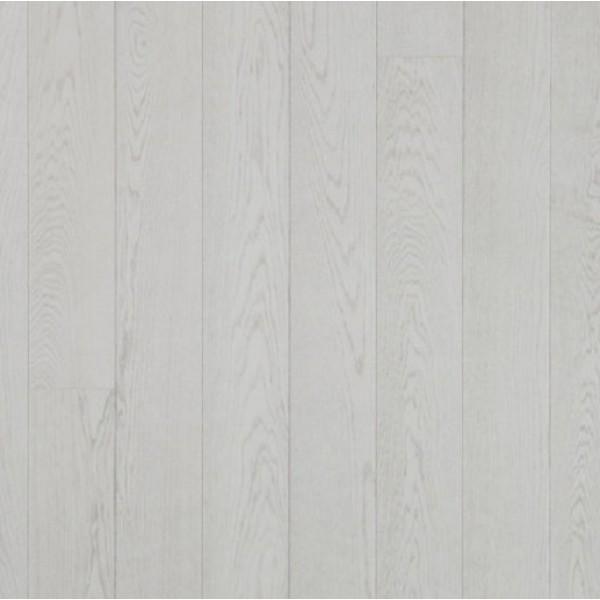 Паркетная доска Дуб GRAND MARBLE 1х, 2V, снежно-белый лак