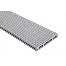 Террасная доска Polymer & Wood Lite Серый